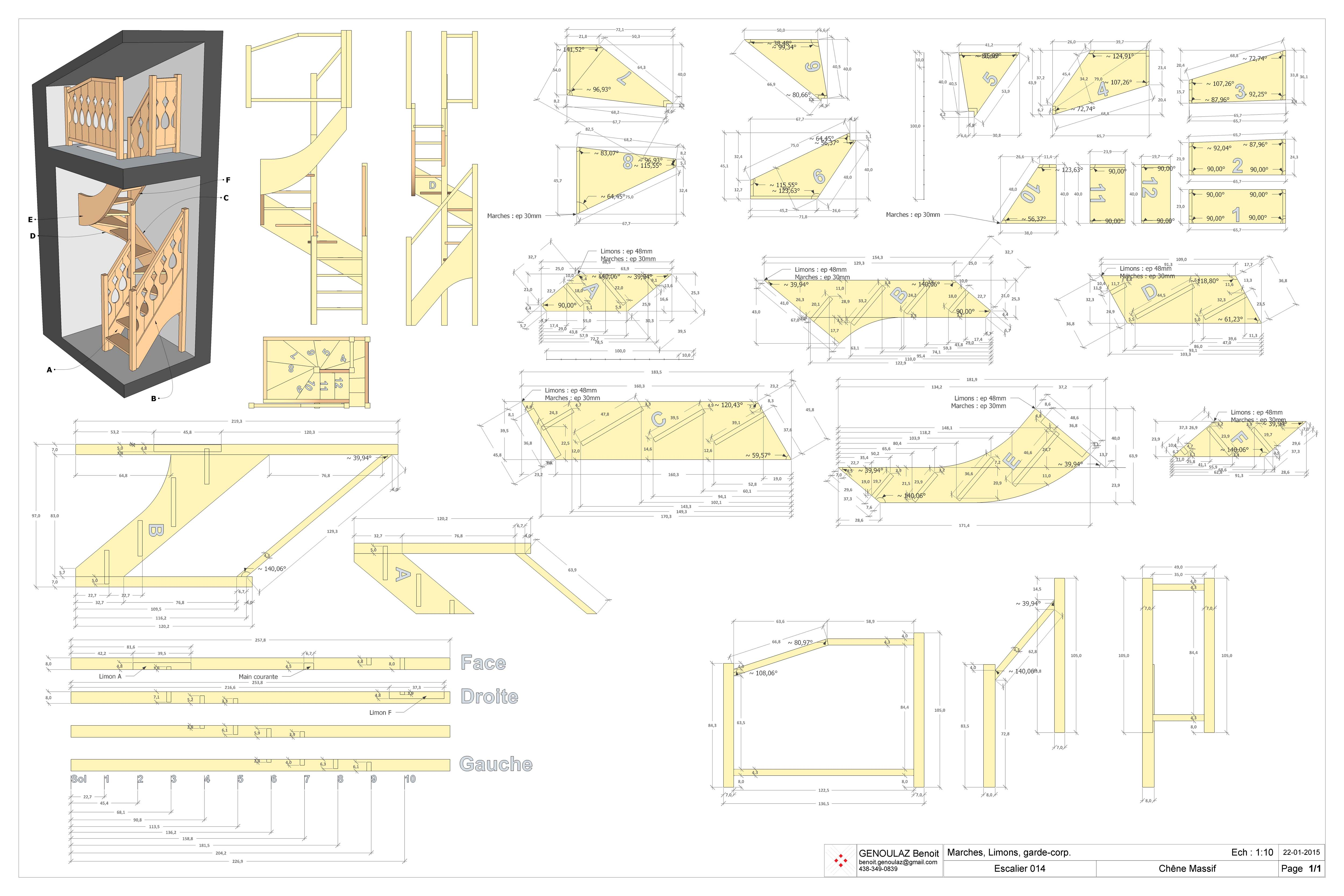 escalier 3 4 tournant visualisation 3d architecturale. Black Bedroom Furniture Sets. Home Design Ideas