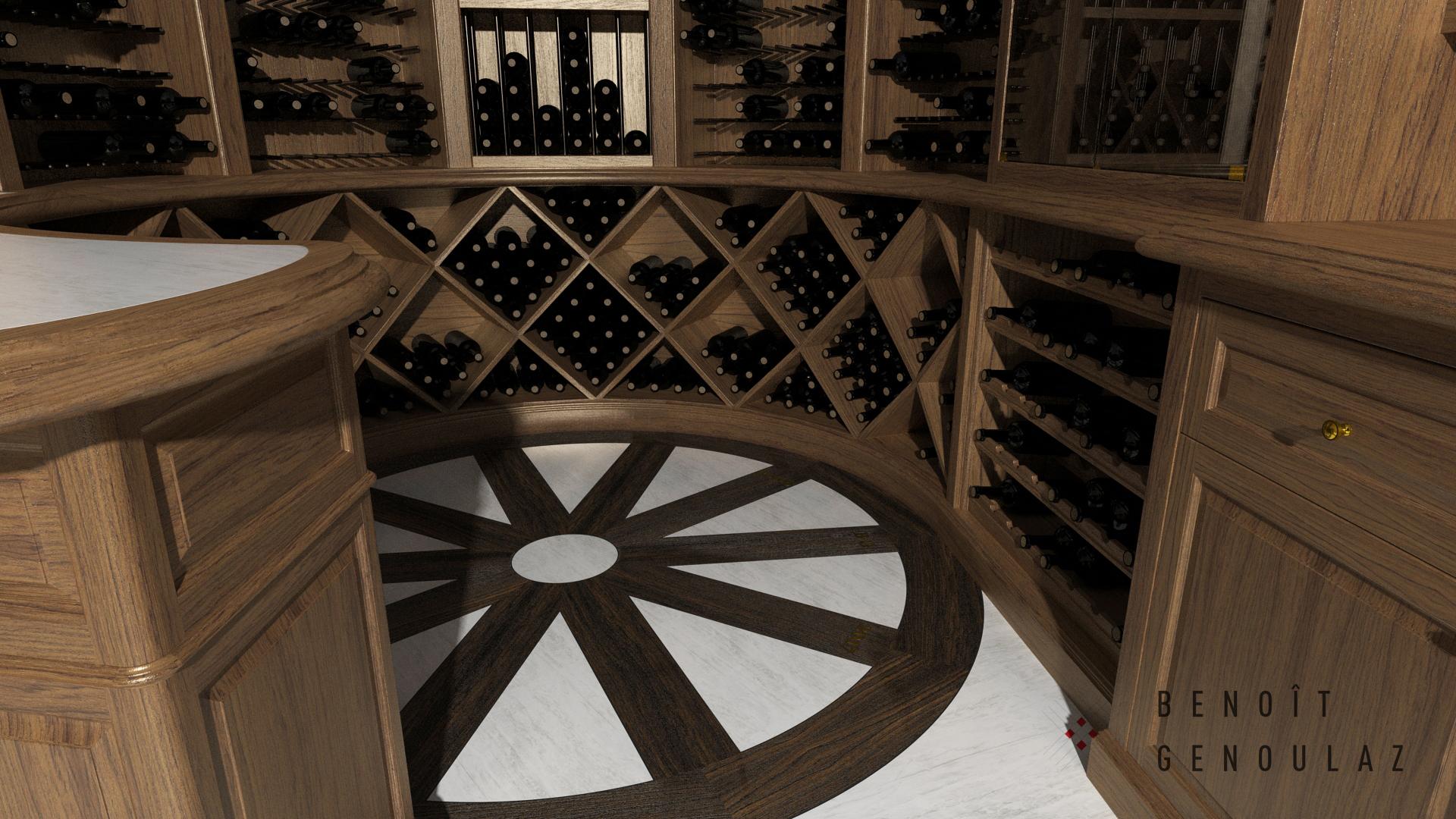 Cellier 1057 bouteilles